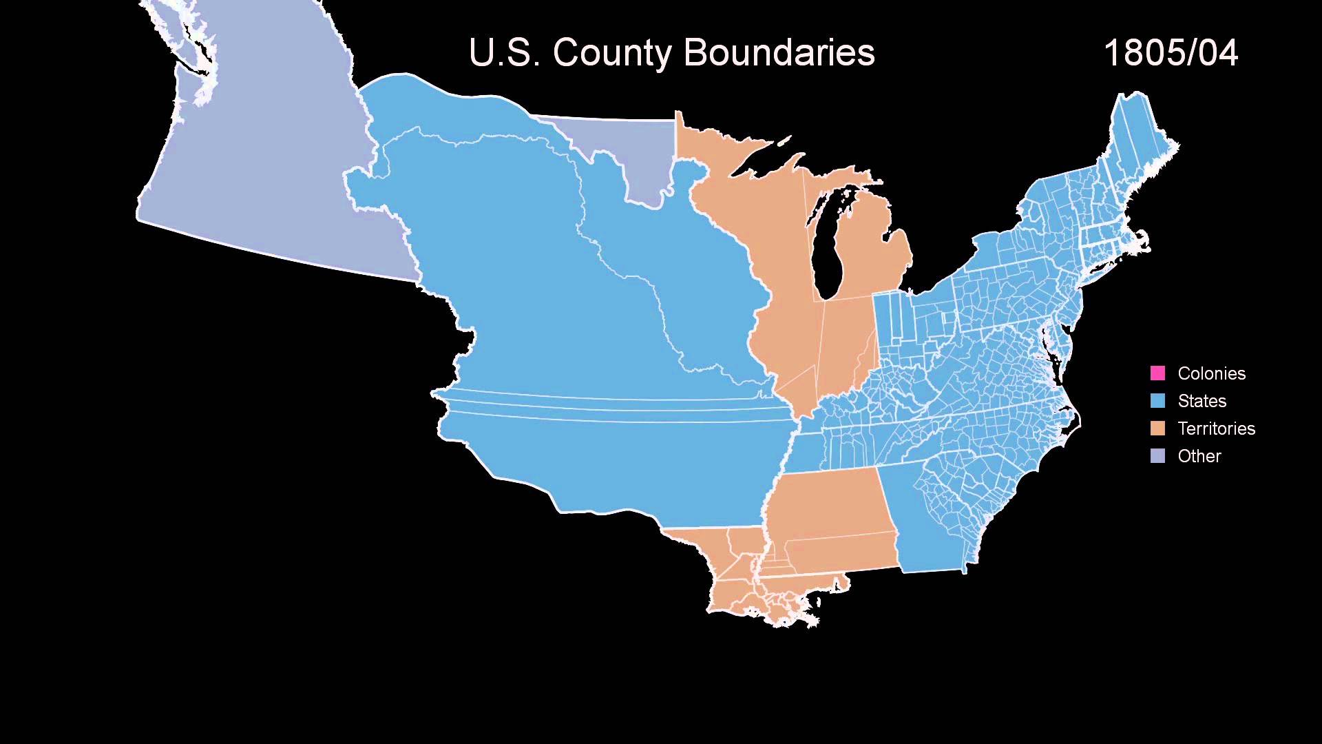 An Animated Timeline Showing The Border Changes Of The - Time changes in us