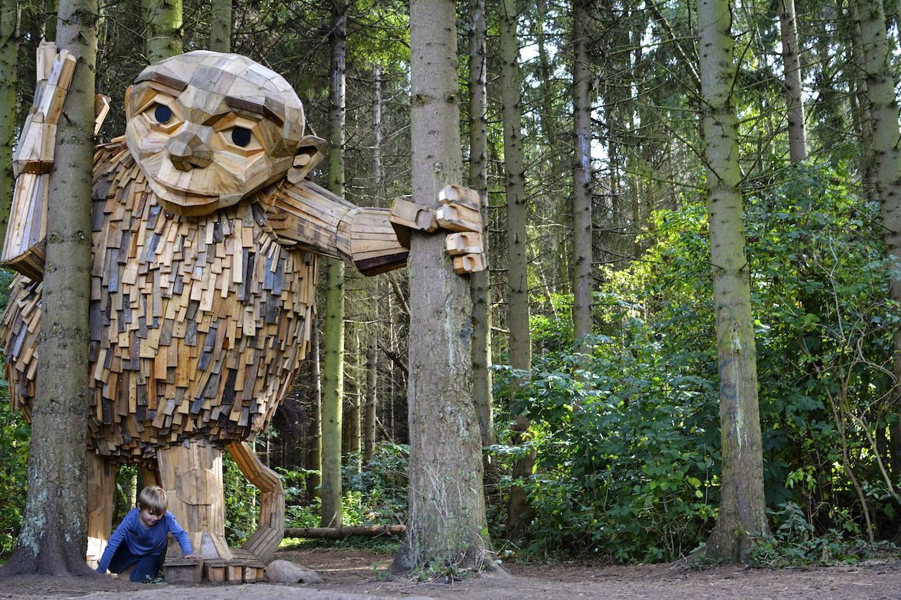 Six Towering Wooden Sculptures of 'Forgotten Giants' Hidden Around Copenhagen Waiting To Be Found