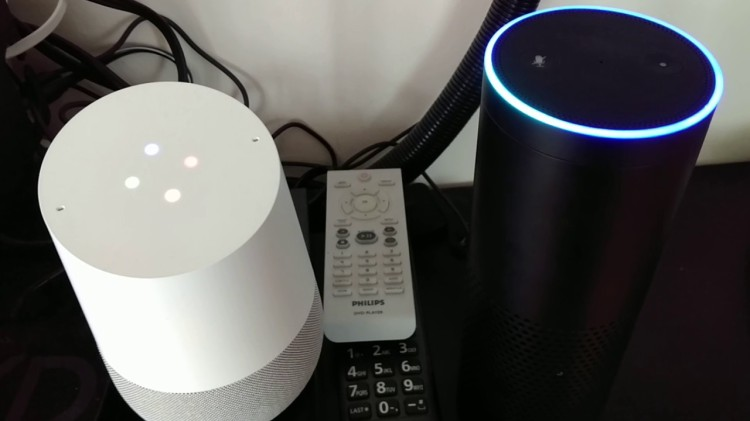 A Google Home and an Amazon Echo Have a Charming Discussion About Becoming Friends
