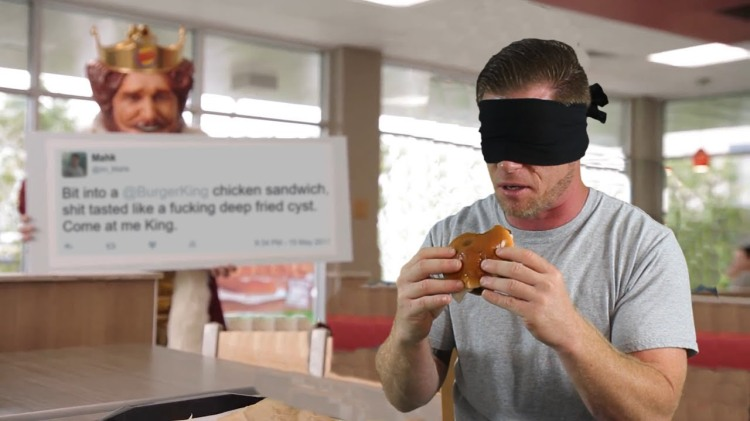A 'Real Person' Named Mahk Is Inserted Into a Blind Taste Test of Burger King's New Chicken Sandwich
