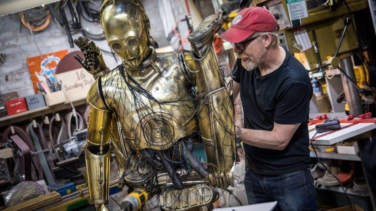 Adam Savage Creates Star Wars Costume Featuring Chewbacca Carrying an Animatronic C-3PO