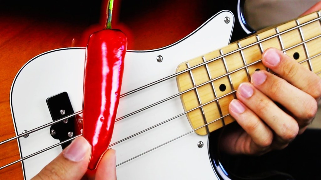 An Impressive Medley of Red Hot Chili Peppers Bass Lines Played With a Red Hot Chili Pepper