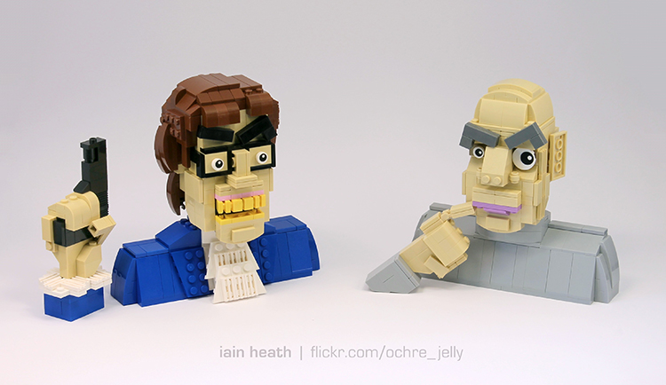 Austin Powers and Dr. Evil Recreated Using LEGO