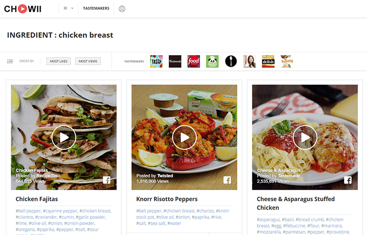 Chowii a website and app that lets you to search for short food it features searchable recipes from food network spoon university tastemade and other well known cooking websites the handy android app is available to forumfinder Image collections