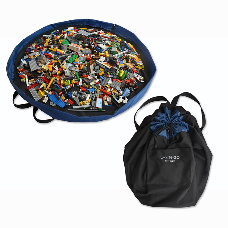 Lay-n-Go Bags and Play Mats for Easy Clean-Up and Storage of Toys, Cosmetics, and Electronics