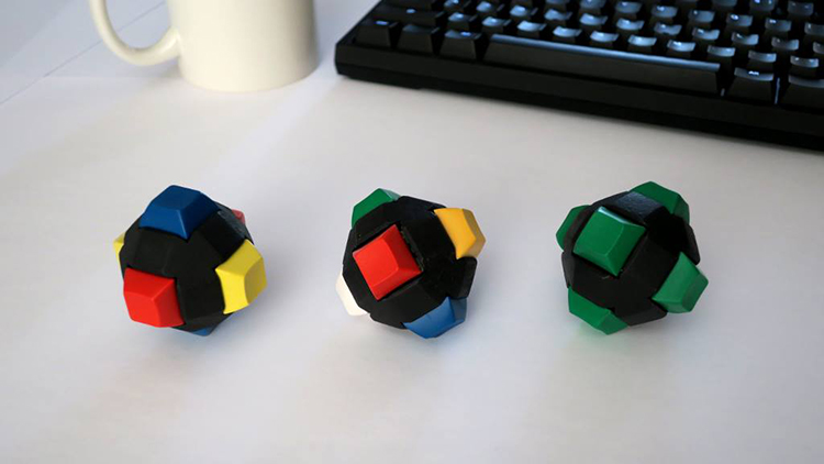 CLICKEYbits, A Six-Sided Fidget and Stress Toy Created With Mechanical Keyboard Keys