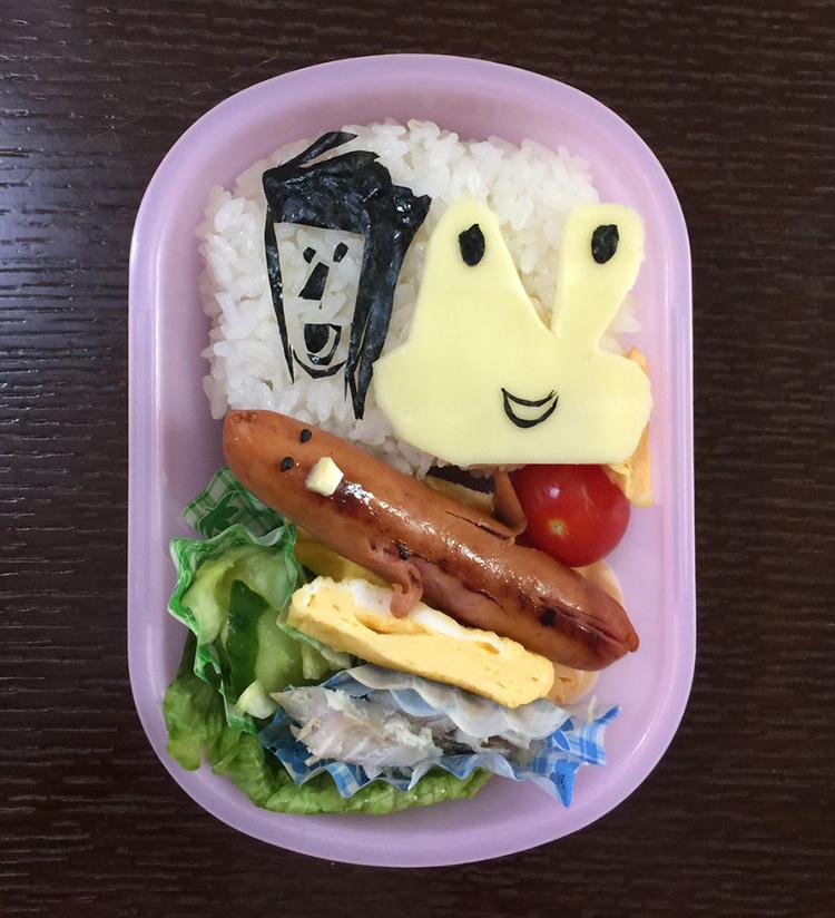 Dad Turns Daughter's Artwork Into Bento Box