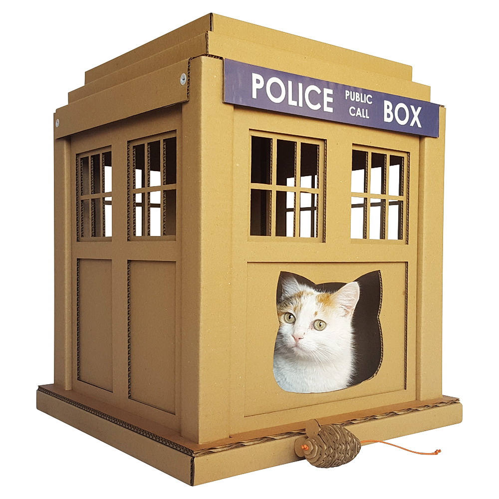 Fabulous TARDIS And Stormtrooper Themed Cat Furniture Made From Recycled  Cardboard