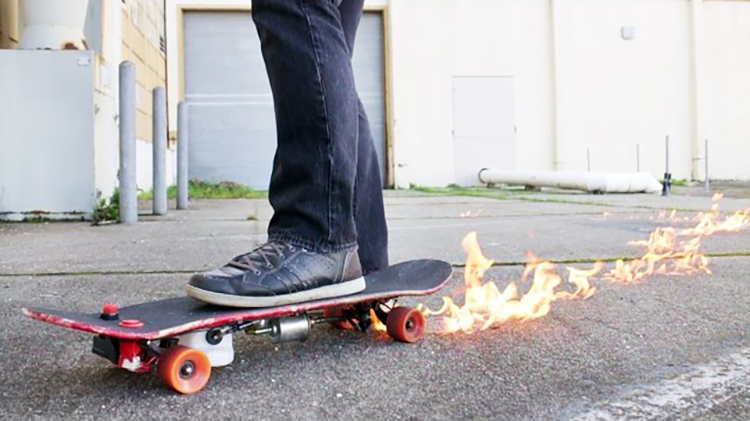 How to Make a Flamethrower Skateboard That Leaves a Trail of Fire With the Push of a Button