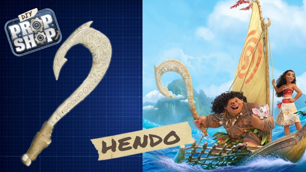 How to build maui 39 s magical fish hook from moana for Disney s moana maui s magical fish hook