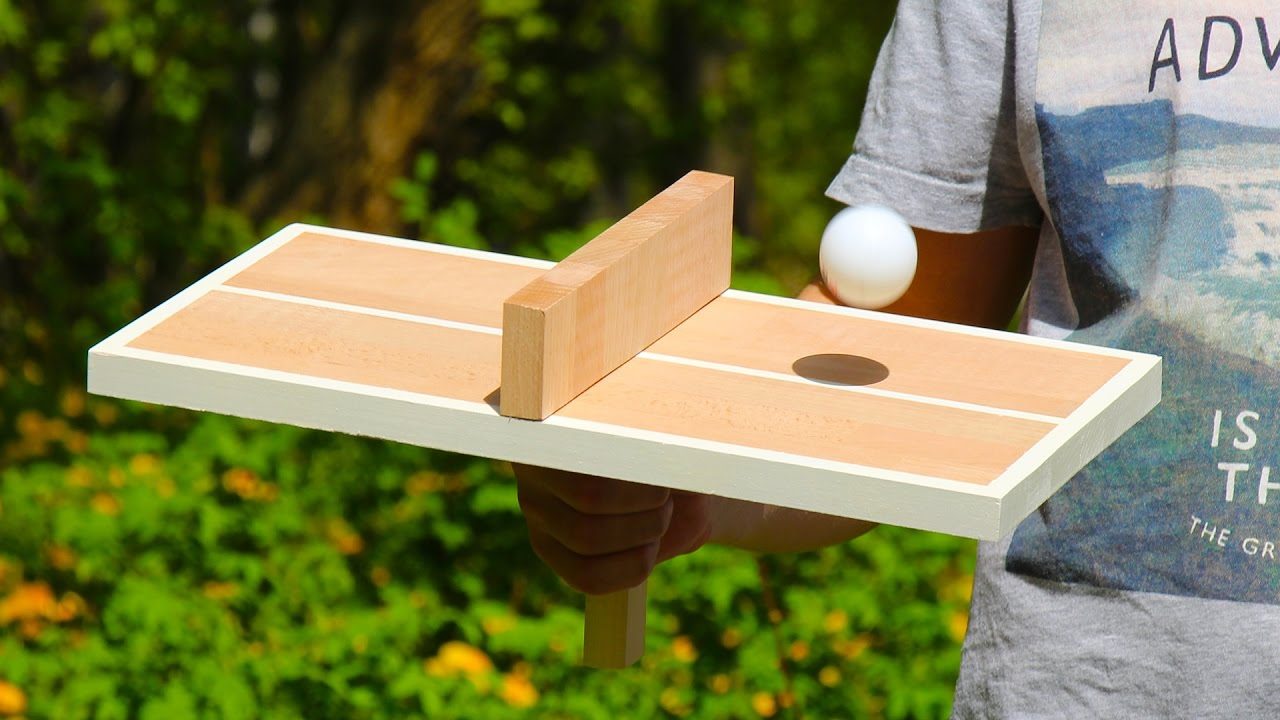 How To Make A Wooden Ping Pong Table Tennis Game For One