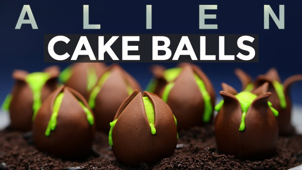 How to Make Alien Egg Cake Balls