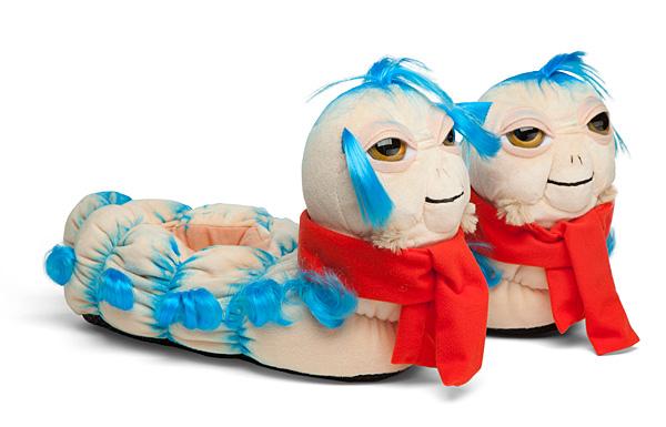 Labyrinth 'Ello Worm Plush Slippers