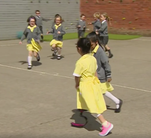 Little Girl Returns to School With Leg Protheses