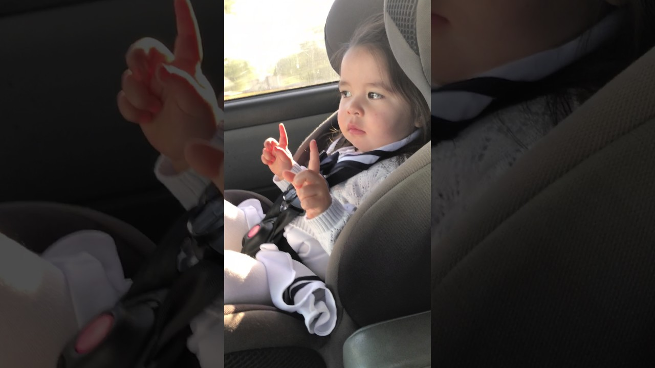 Little Girl in Car Seat Waits for the Beat to Drop in \'Uptown Funk ...