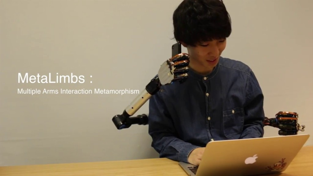 MetaLimbs, Innovative Attachable Robotic Arms That Are Controlled by a Person's Feet