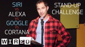Performing Stand-Up Comedy Written by Alexa, Siri, Cortana, & Google Home to See Which is Funniest