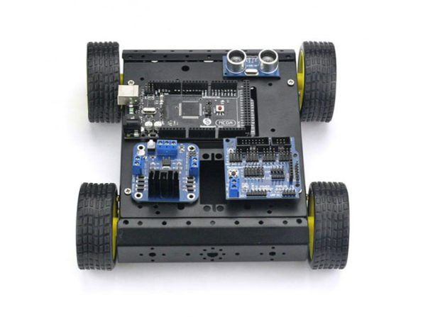 A build it yourself wd arduino robot car kit
