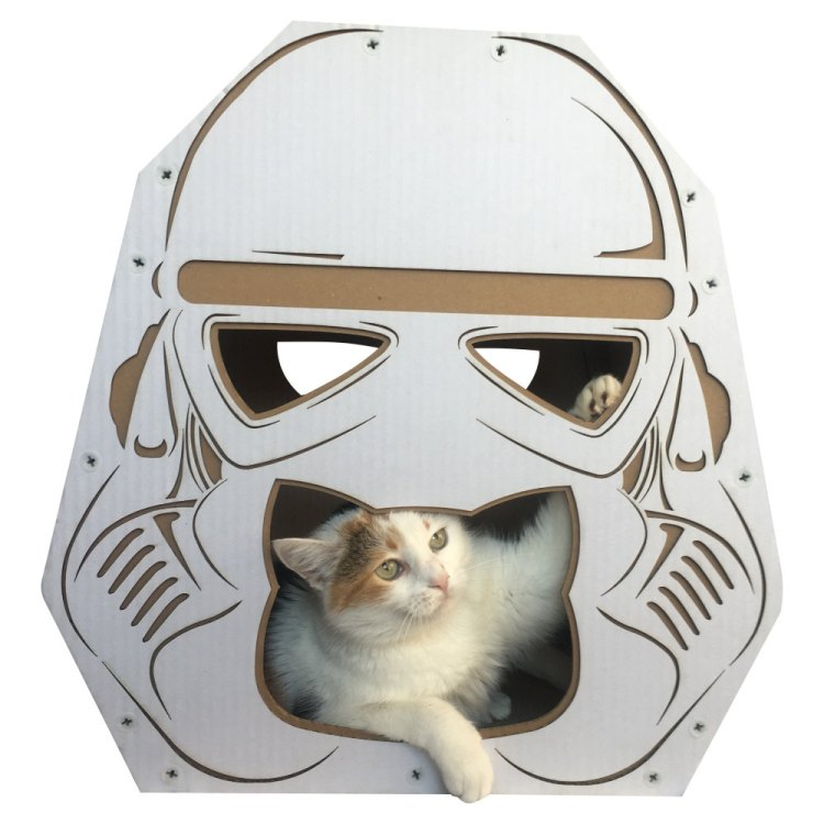 StarWars Imperial Stormtrooper Cardboard Cat House