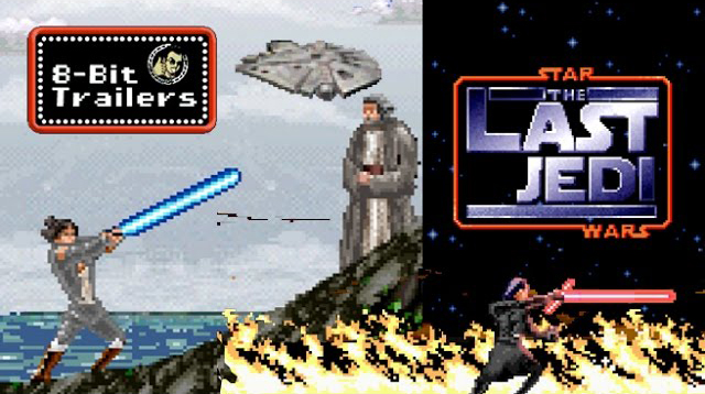 The Trailer for Star Wars: The Last Jedi Reimagined as an 8-Bit Animated Video Game