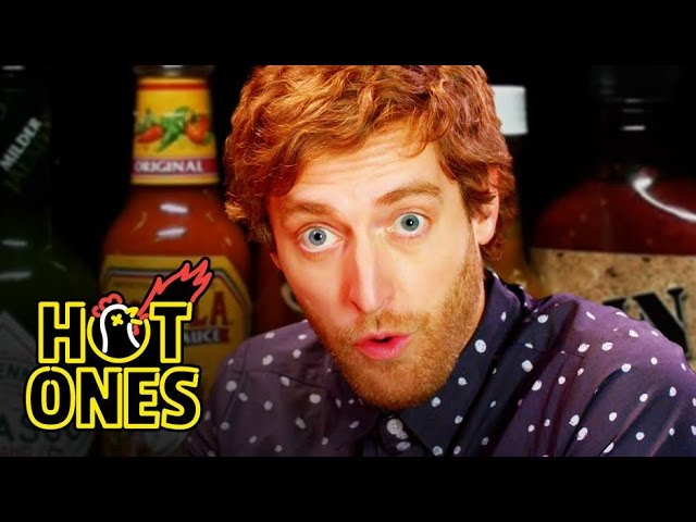 Thomas Middleditch Does Improv While Eating Spicy Wings With Sean Evans on 'Hot Ones'