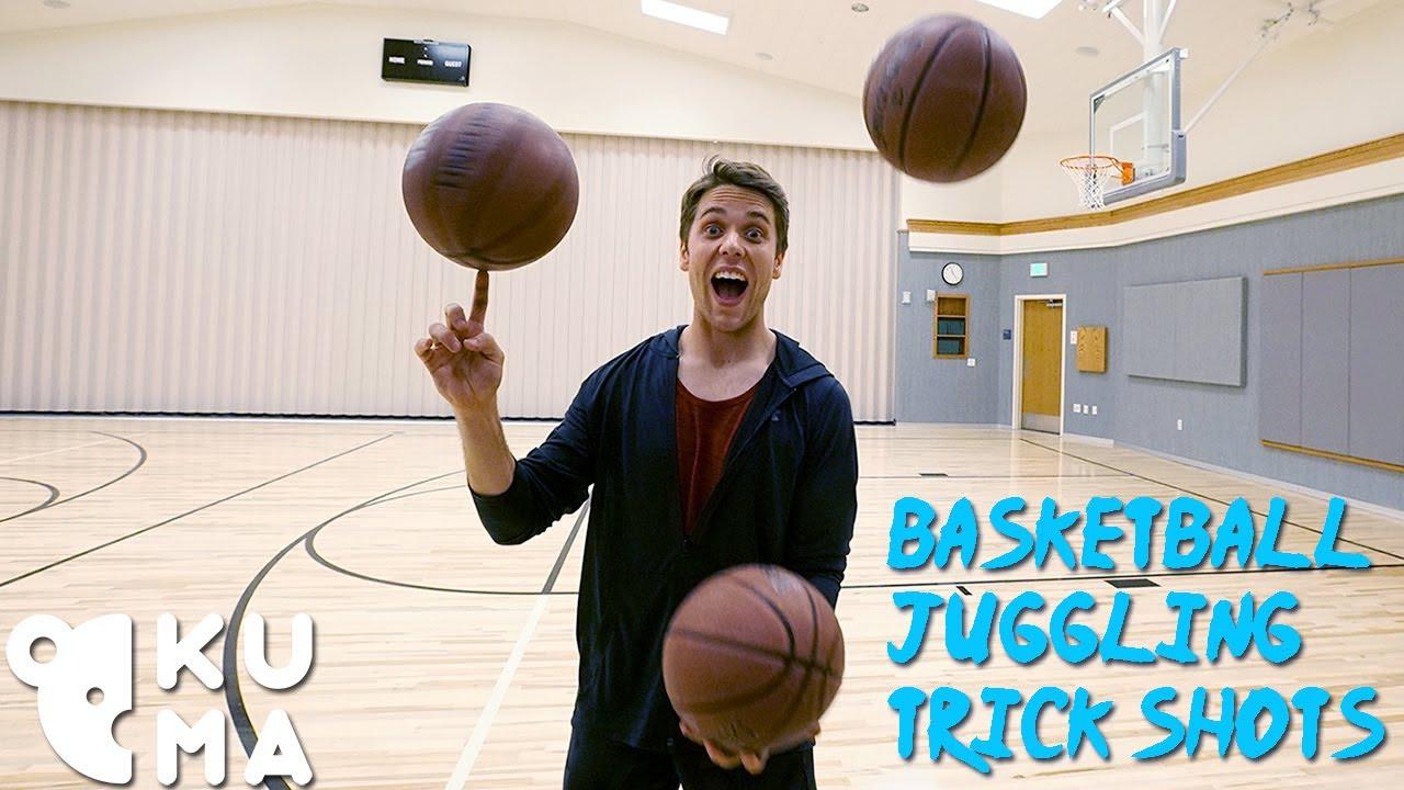 Josh Horton Juggles Basketballs While Sinking Insane Trick Shots on the Court