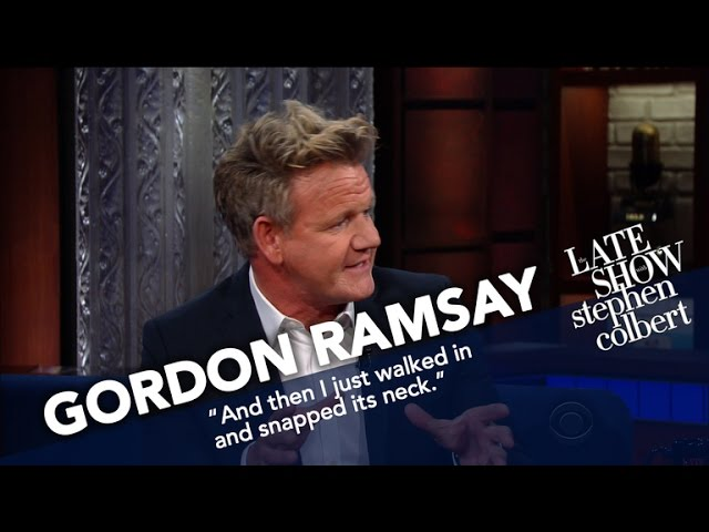 Gordon Ramsey Gives a Foul Mouthed Critique of Stephen Colbert's Peanut Butter and Jelly Sandwich