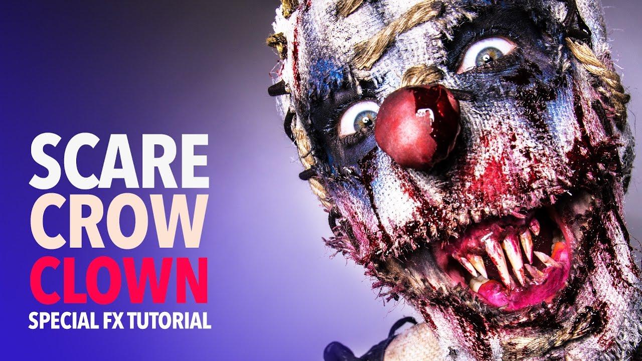 A horrific scarecrow clown makeup tutorial complete with custom a horrific scarecrow clown makeup tutorial complete with custom fitted monster teeth baditri Images