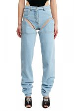 Uniquely Designed Jeans That Easily Convert Into High Cut Shorts Either In Front or On the Side