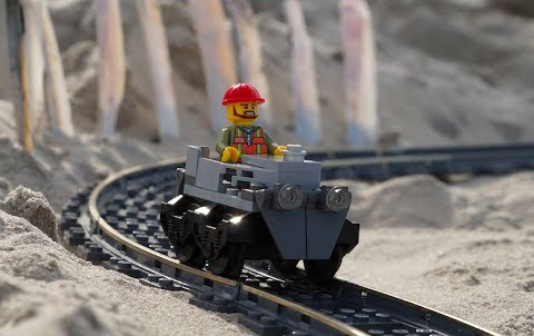 A Sandy Seaside LEGO Roller Coaster Journey Through The Outer Banks of North Carolina