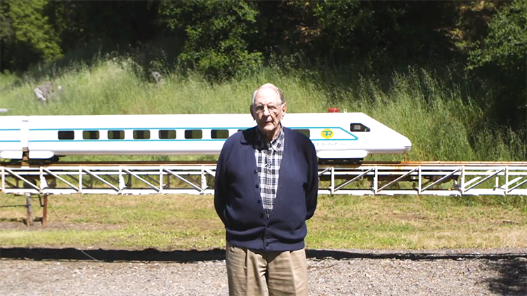 89-Year-Old Retired Engineer Builds a Giant Train Set in His Mendocino, California Vineyard