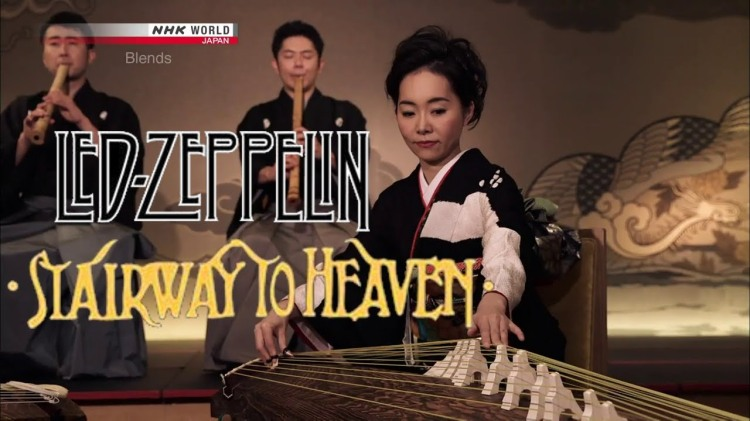 A Serene Cover of 'Stairway to Heaven' Played on Traditional Japanese Kotos and Bamboo Flutes