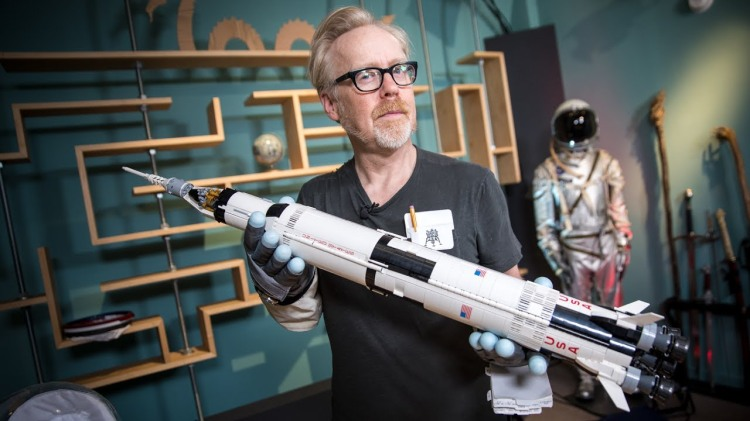 Adam Savage, Will Smith, and Norman Chan Build a LEGO Model of the NASA Apollo Saturn V Rocket