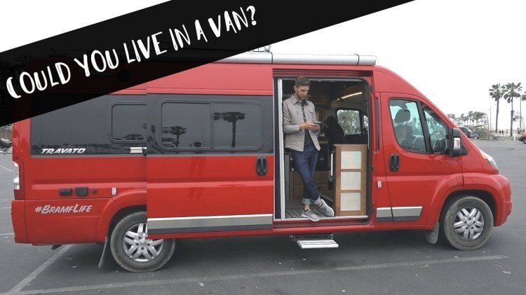 Adventurous Man Sells Most of His Belongings to Live and Travel in a Giant Van With His Faithful Dog