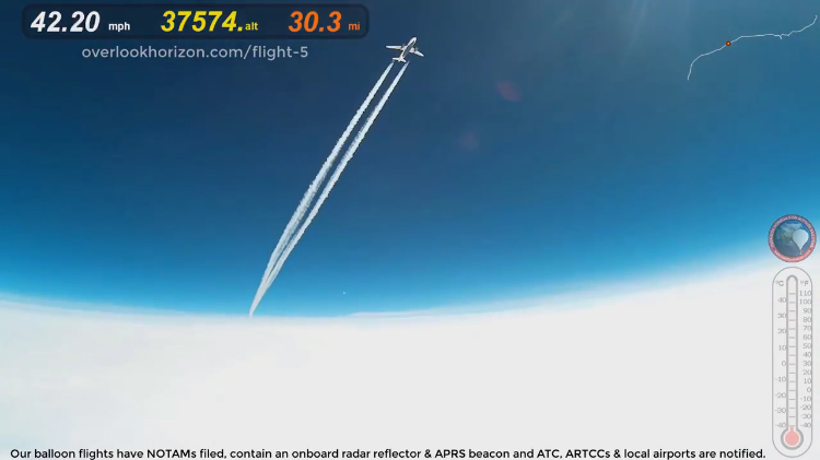 GoPro on a High Altitude Weather Balloon Captures Extremely Close Flyby of an Airbus A319 Jet