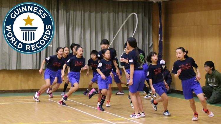 Amazing Japanese Elementary School Kids Set a New Jump Rope Guinness World Record