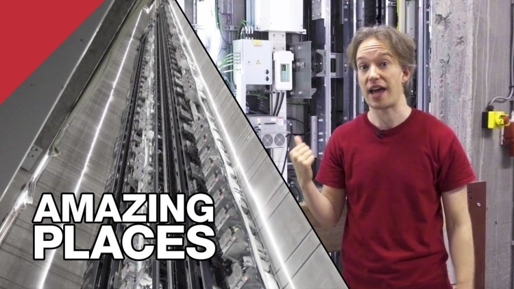 An Amazing Elevator That Moves Sideways