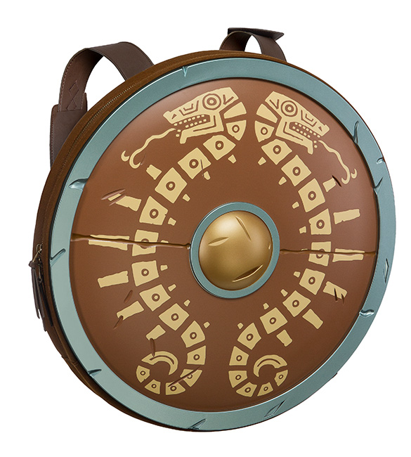 A Legend of Zelda: Breath of the Wild Backpack Modeled After the Traveler's Shield