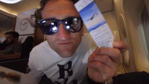 Casey Neistat Lufthansa First Class