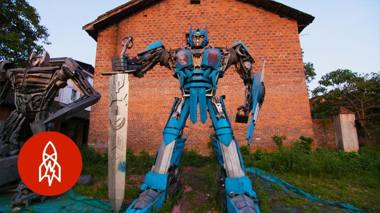 Chinese Father and Son Duo Create Huge Transformers Robots From Scrap Metal