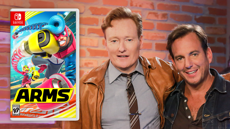 Conan O'Brien and Will Arnett Trade Insults While Playing Nintendo Switch's ARMS on Clueless Gamer