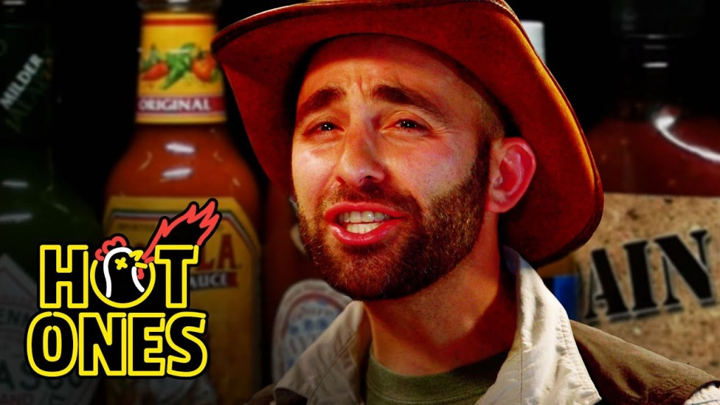 Coyote Peterson Answers Questions About His Show While Eating Progressively Spicy Wings