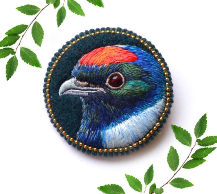Embroidered Chiroxiphia