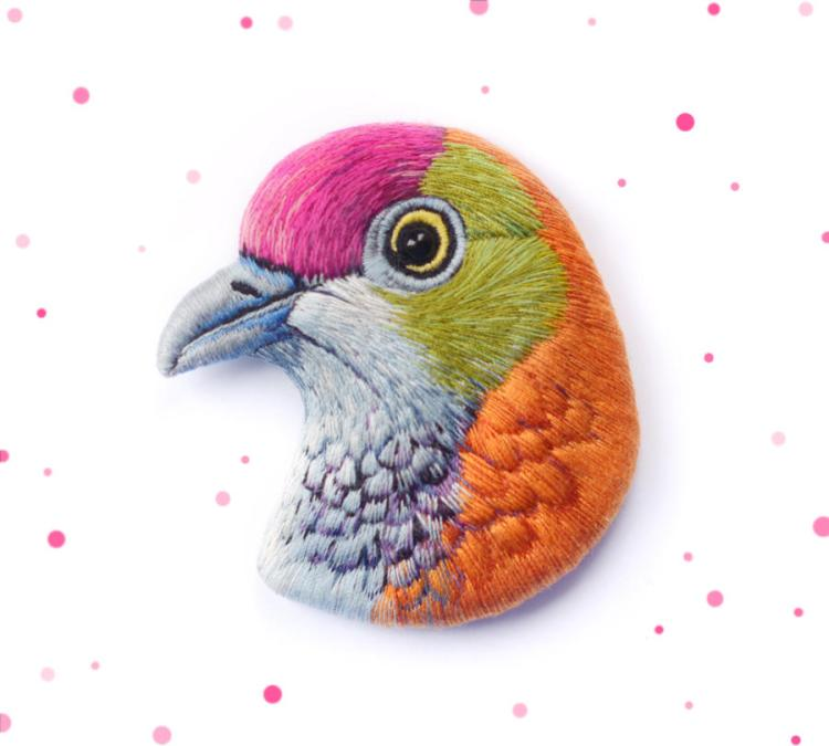 Embroidered Superb Fruit Dove
