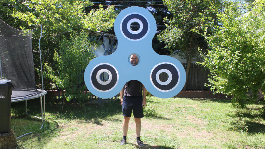 A Giant Six Foot Fidget Spinner Costume