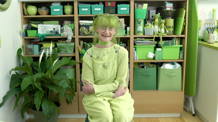 The Famous Green Lady of Brooklyn Shares the Reason Why She Loves the Color So Much