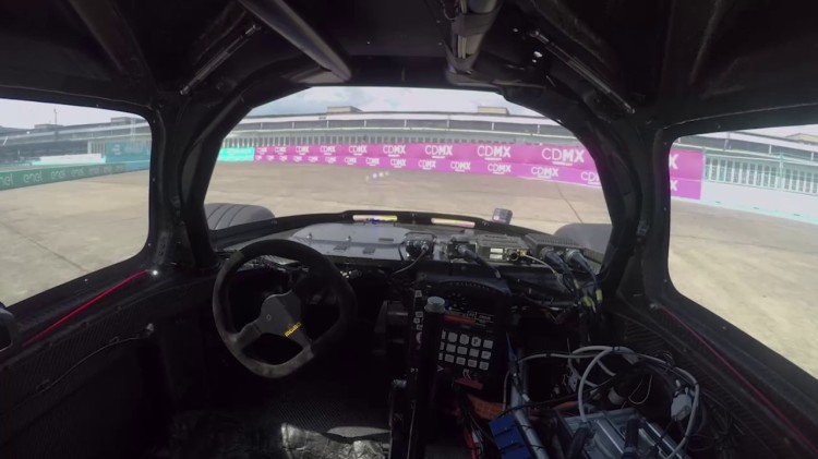 In-Car Footage of Roborace's Electric Self Driving Race Car Doing a Full Autonomous Lap at 124 MPH