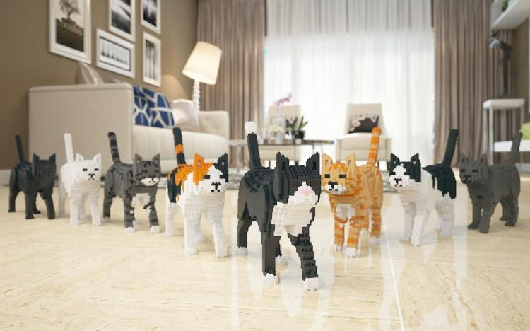 JEKCA, Uniquely Shaped Interlocking Building Blocks That Form Cats and Dogs of Different Breeds