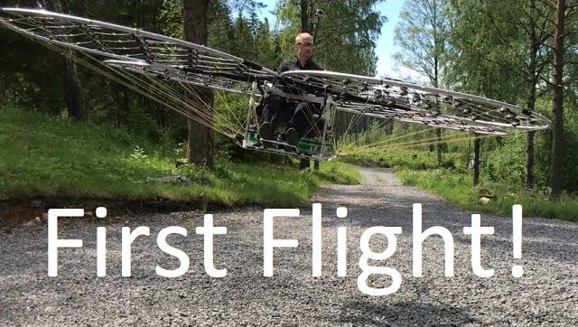 Swedish Engineer Takes His Homemade Electric Multicopter for a Test Flight