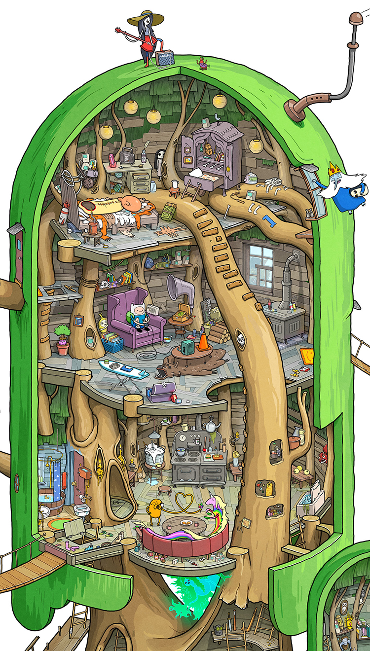 Finn and Jake  Adventure Time Tree Fort